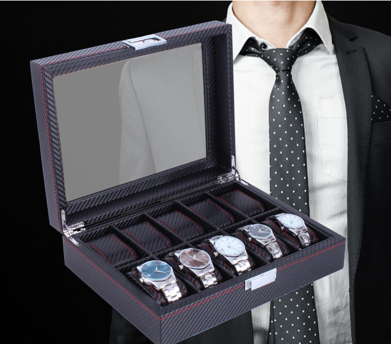 10 slot Carbon Fibre Watchbox.jpg